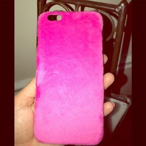 Accessories - Super cute & stylish hot pink plush cell case